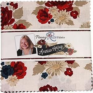 Dani Mogstad American Heritage - Abalorio de tela de rosas de 12,7 cm, 42 cuadrados, 12,7 cm