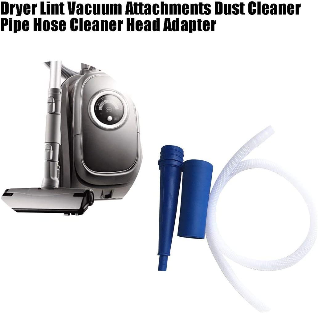 Candybarbar Universal Dryer Lint Vacuum Attachments Dust Cleaner Pipe Vacuum Hose Cleaner Head Adapter for Washing Machine