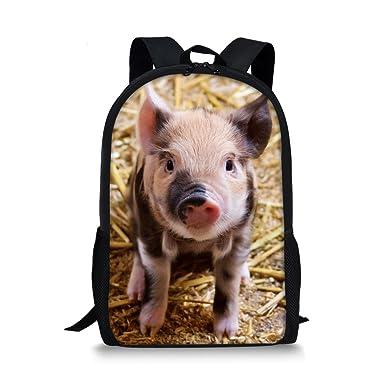 cba91310cc Animal Backpack Cute Pig Lightweight Durable Teen Girls Daypack School Bags