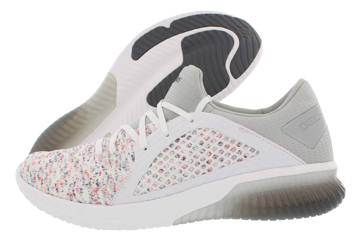 ASICS1021A025 - Gel-kenun Hombre, Blanco (Blanco/Blanco/Mid Gris), 40.5 EU: Amazon.es: Zapatos y complementos