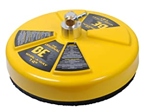 """BE PRESSURE 85.403.014 14"""" Whirl-A-Way Flat Surface Cleaner, Yellow"""