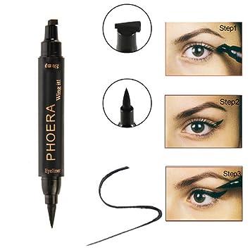 Amazon.com: Beautyonline Eyeliner Stencil, Waterproof Winged ...