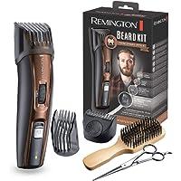 REMINGTON - Tondeuse Barbe Beard Kit MB4045 lames revêtement Titanium auto-affûtée, 9 guides de coupes (1.5 à 18mm) - Brun