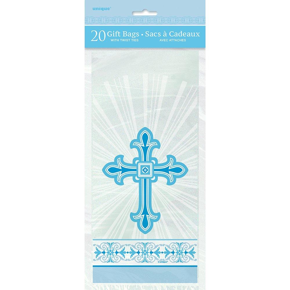 Amazon.com: Radiant Azul Cruz religiosa bolsas de celofán ...