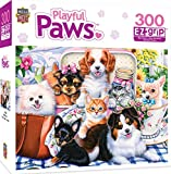 MasterPieces Playful Paws Sweet Things - Puppies & Kittens Large 300 Piece EZ Grip Jigsaw Puzzle by Jenny Newland