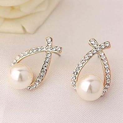 Earrings New Arrival Jewelry Shiny Multi-color Silver Color Cross Earrings