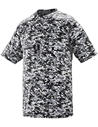 MEN'S DIGI CAMO WICKING TWO-BUTTON JERSEY