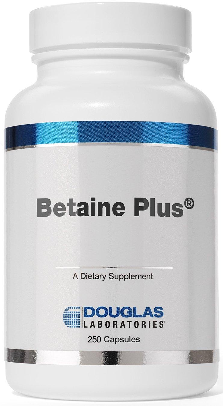 Douglas Laboratories - Betaine Plus - Betaine Hydrochloride with Pepsin to Support Digestion* - 250 Capsules