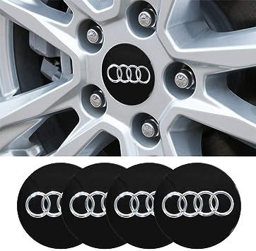 S5 Black Wheel Centre Cap 60mm Set Of 4 Hub Cap Emblem New Decals