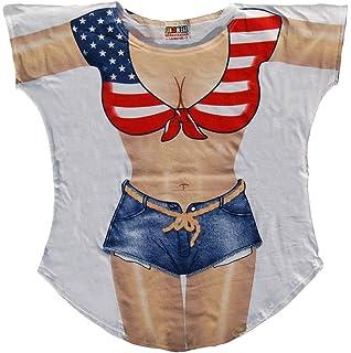 986eeb6f83293 Amazon.com  Miss America Bikini Cover-Up T-Shirt Size M L  Clothing