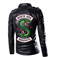 Men Riverdale Southside Serpents Biker Gang Black Leather Jacket for Men-4