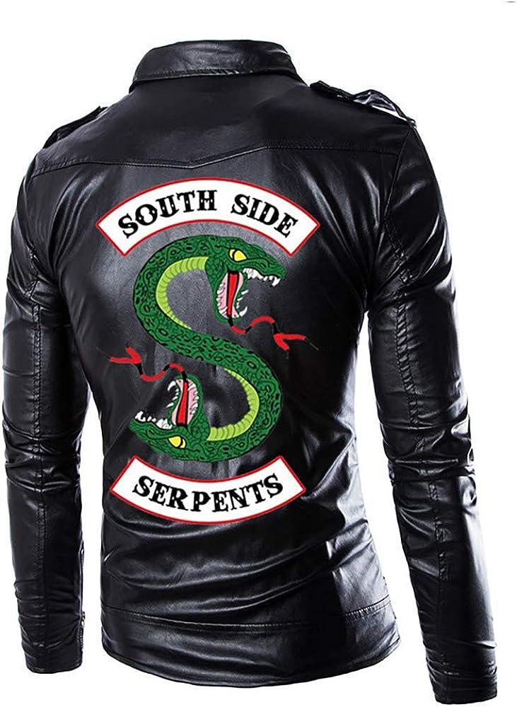 StMandy Chaquetas Riverdale para Hombre Serpientes Chaqueta Negra de Cuero PU: Amazon.es: Ropa y accesorios