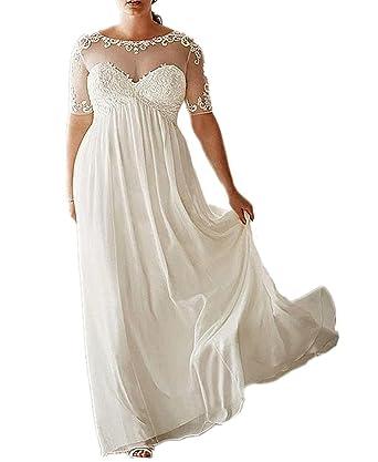 Yunshan Women\'s Chiffon Vintage Beach Wedding Dresses ...