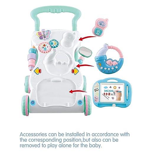 2 en 1 Actividad Musical de Sonidos para bebés de niños Push Along ...