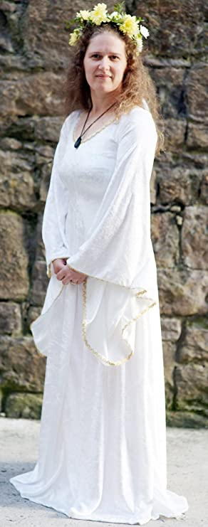 Pagan-Medieval-Larp-Sca-Wicca-Gothic-Handfasting-Wedding IVORY DRESS ...
