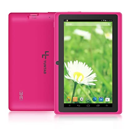 Yuntab Q88 Tablet de 7 (WiFi, Quad-Core, Android 4.4.2 KitKat, HD 800x480, 32 GB, 4GB ROM, Doble Cámara, Google Play) Color Rosa