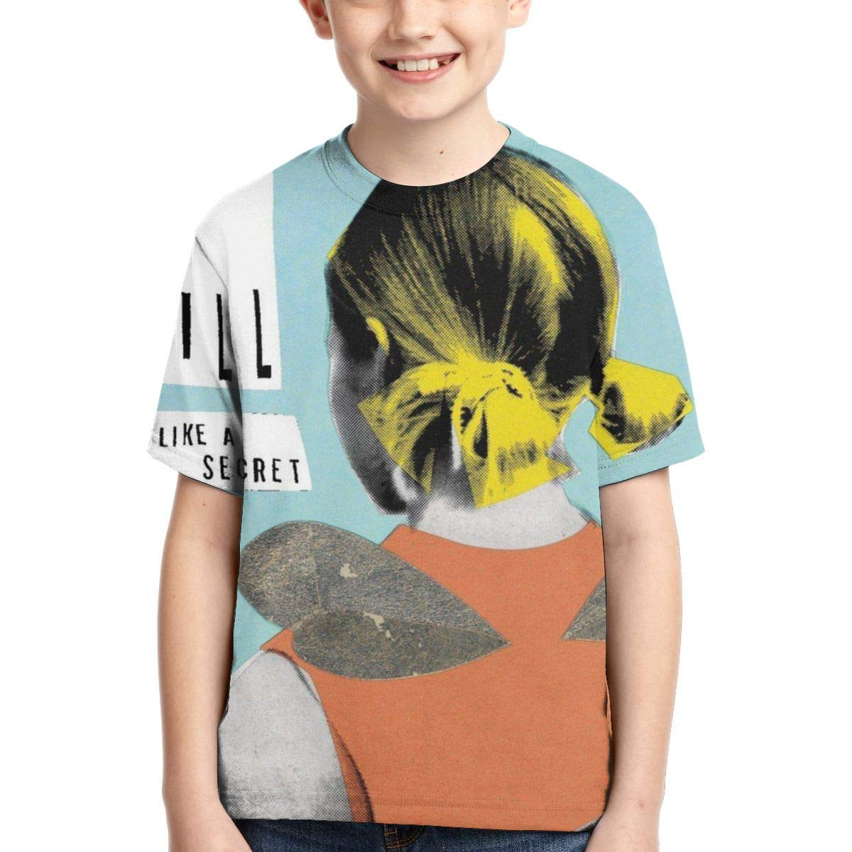 BowersJ Childs Built to Spill Keep It Like A Secret Design 3D Printed Short Sleeve T Shirts for Girls /& Boys Black