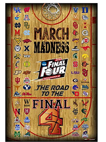 2015 Official NCAA Final Four March Madness All Teams Basketball Print Poster