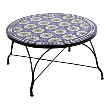 Albena Marokko Galerie Moroccan Mosaic Table Cm L Mediterranean - Moroccan outdoor coffee table