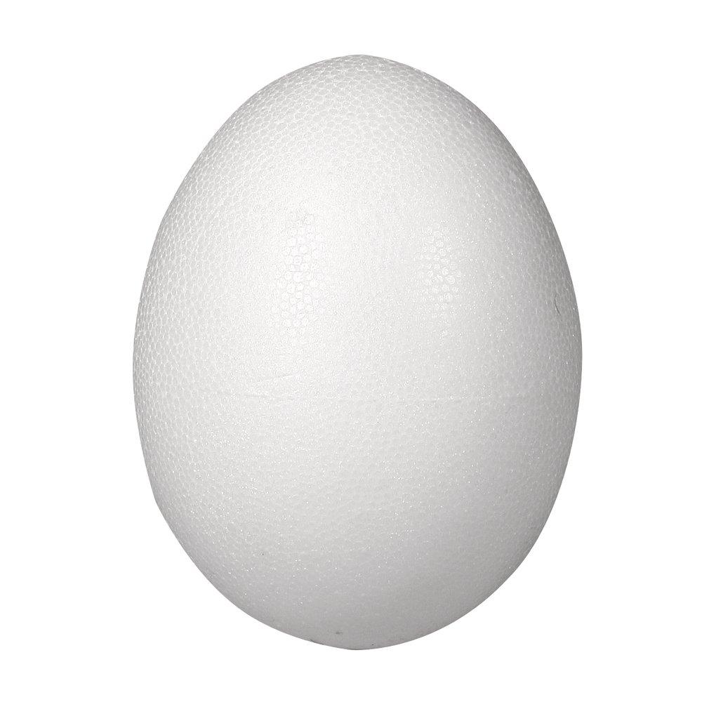 RAYHER HOBBY RAYHER 30168000Polystyrene Egg, 2Pieces 26cm 2Small Polystyrene White 23.5x 40.5x 58.5cm Rayher Hobby GmbH