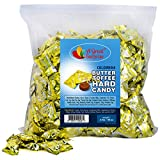 Hard Candy Butter Toffee - Toffee Hard Candy - Colombina Butter n Cream Hard Candies - Bulk Candy 3 LB