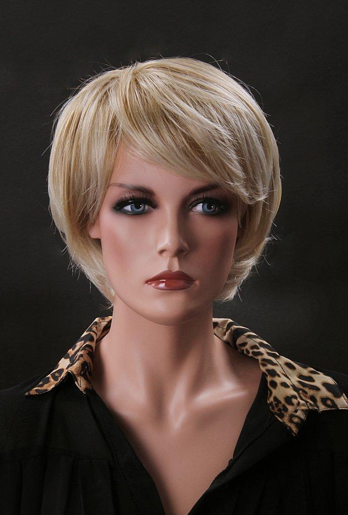 (WG-ZL02C-27T613) Short Hair Wig, Blonde Color, female fashion