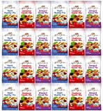 Healthy Premium Assorted Nuts and Fruits Snack Mix Sampler Variety Pack, Good for the Heart by Variety Fun (Care Package 24 Count) For Sale