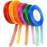 Idealeben 6pcs multicolore rubans décoratifs parfaits pour les cadeaux, boîte de bonbons emballage, fait main, de mariage de mariage personnalisé pour créer, artisanat, vêtements, etc