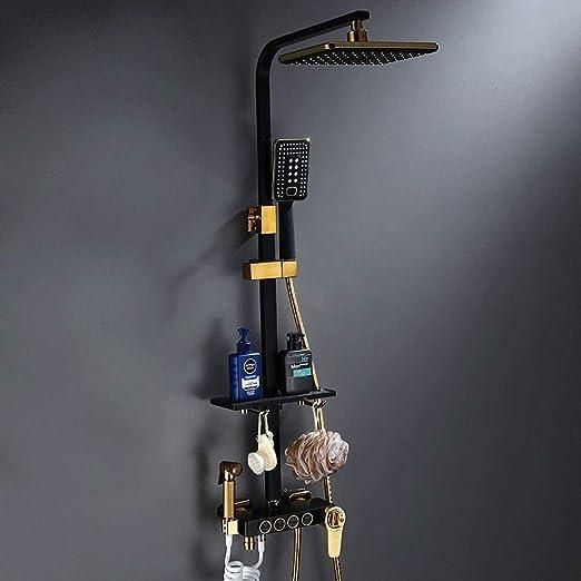 Grifos de ducha Set de ducha cuadrada de cuatro velocidades con ...