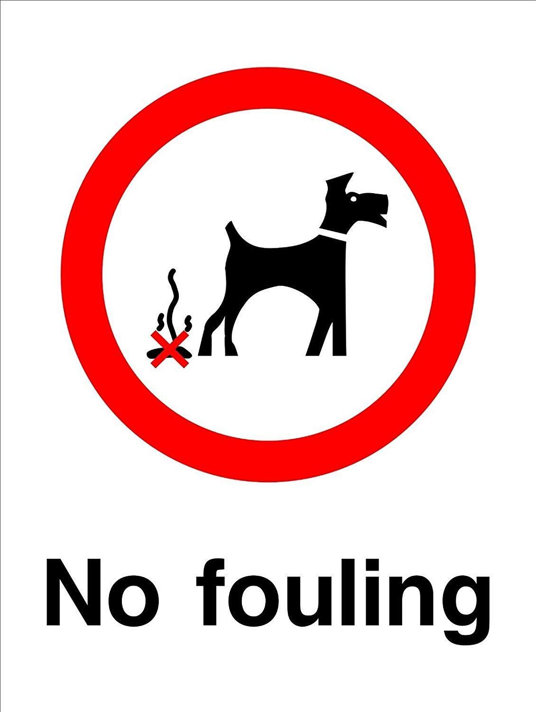 Cartel para perros de 15 x 20 cm, con texto en inglés «No ...
