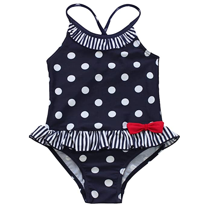 c953fb98a7ce MSemis Bañador para Bebé Niña Edad 1-7 Años Bikinis de Lunares Cintura  Volante Traje de Baño de una Pieza Natación Playa: Amazon.es: Ropa y  accesorios