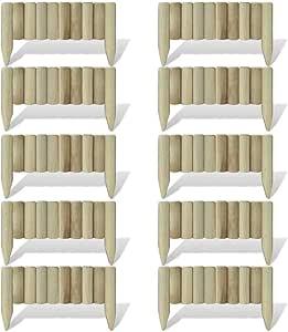 Xingshuoonline Set 10 Piezas Bordura de Madera para El Césped, 60 cm,Borduras Jardin Flexible: Amazon.es: Bricolaje y herramientas