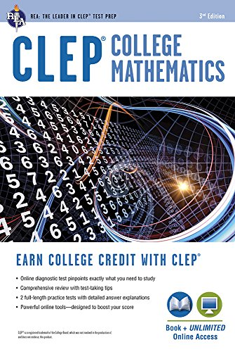CLEP® College Mathematics Book + Online (CLEP Test Preparation)