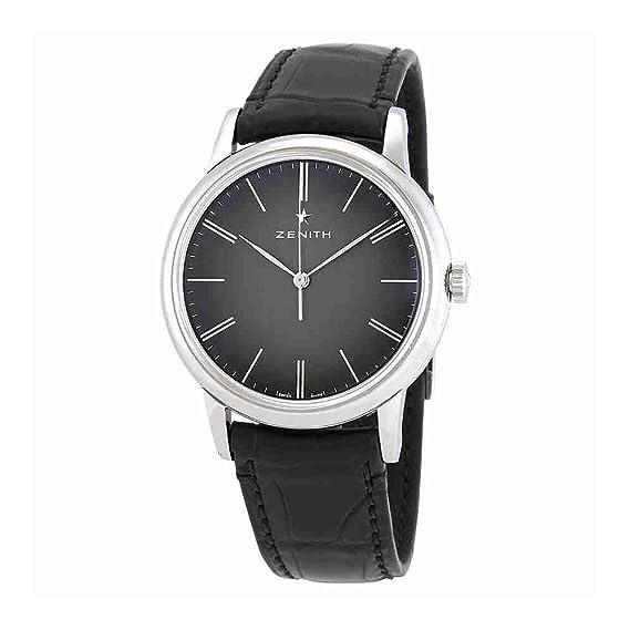 Zenith Elite 03.2290.679/26.C493 - Reloj automático para hombre, esfera negra: Amazon.es: Relojes