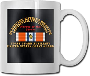 Uscg Hurricane Katrina Heroes Of The Storm Ultra White Ceramic Funny Coffee Mug Short Mug Mark Mug Unique Coffee Oz Coffee Mug