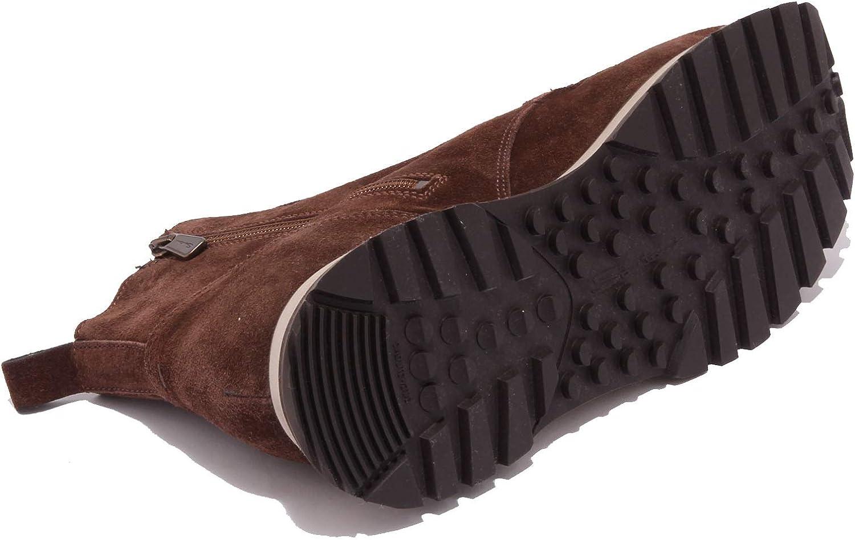 Santoni 5229AB Anfibio Uomo Suede Brown Boot Shoe Men Marrone