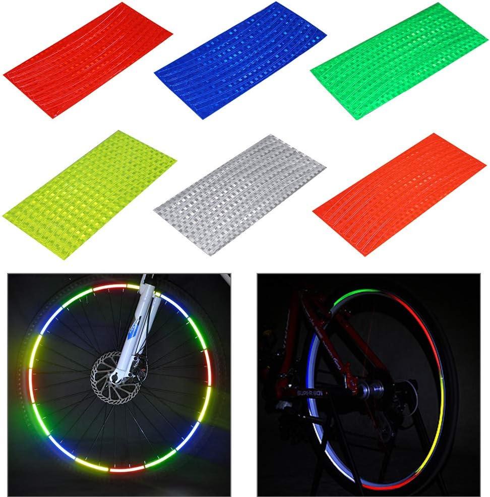 Clip-Schlauch f/ür Kinder und Erwachsene N\A 72 St/ück Fahrrad-Speichenreflektoren Radfelgen reflektierende Clips Fahrrad Speichenreflektoren MTB