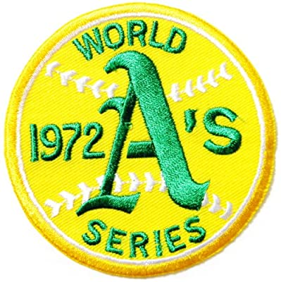 Oakland Athletics 1972 WORLD SERIES Baseball MLB Logo Sign Patch Iron on Applique Embroidered Sew Jacket T shirt Gift BY SURAPAN