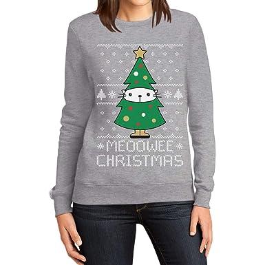 quality design 88a80 91003 Meoowee Christmas Tannenbaum Damen Weihnachtspullover Frauen ...