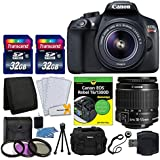 Canon EOS Rebel T6 DSLR Camera + EF-S 18-55mm IS II Lens + Transcend 64GB Card + T6/1300D for Dummies + 58mm Filter Kit + DC59 Gadget Bag + Card Reader + Small Tripod + Cleaning Kit - Valued Bundle
