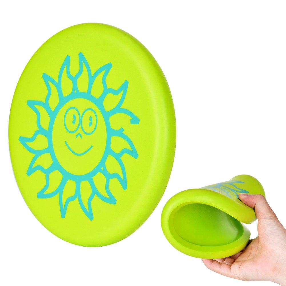 ToWinle Frisbee, 【 Nueva versió n 】 Frisbee para niñ os Frisbi Soft softshield Frisbi suave addensato Frisbi con diseñ o Cartoon para Niñ os Sport