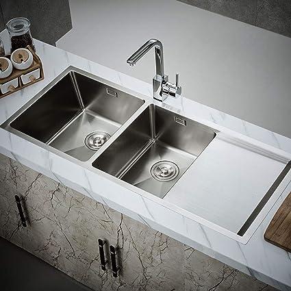 Lavandino da cucina in acciaio inox con rubinetto Lavandino ...