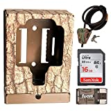 Browning Trail Cameras Security Box + Python Cable Lock + 16GB SD Card + Focus USB Reader Bundle