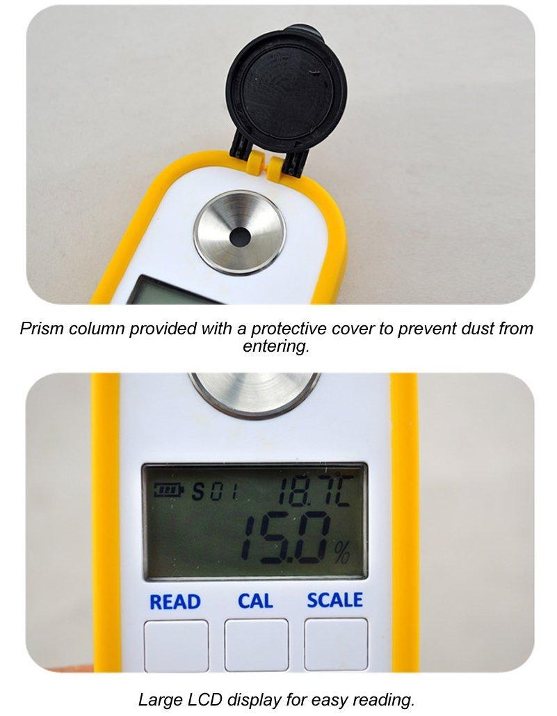 Alcohol Digital Refractometer Digital Alcohol Refractometer Brix Refractometer Alcohol Digital Alcohol Meter Digital Brix Refractometer Brix0-50.0% Accuracy0.2% Automatic Temperature Compensation