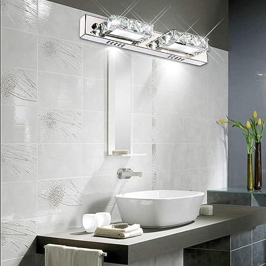 LED K9 ba/ño de cristal l/ámpara de pared espejo luz delantera cuarto de ba/ño espejo resistente al agua faros maquillaje simple l/ámpara de pared espejo de acero inoxidable /óxido Solo vender luces ▶