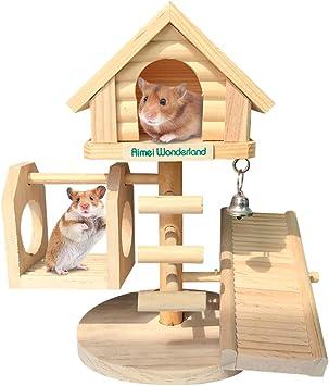 Amazon.com: Dwarf Hamster House - Caseta de madera para ...