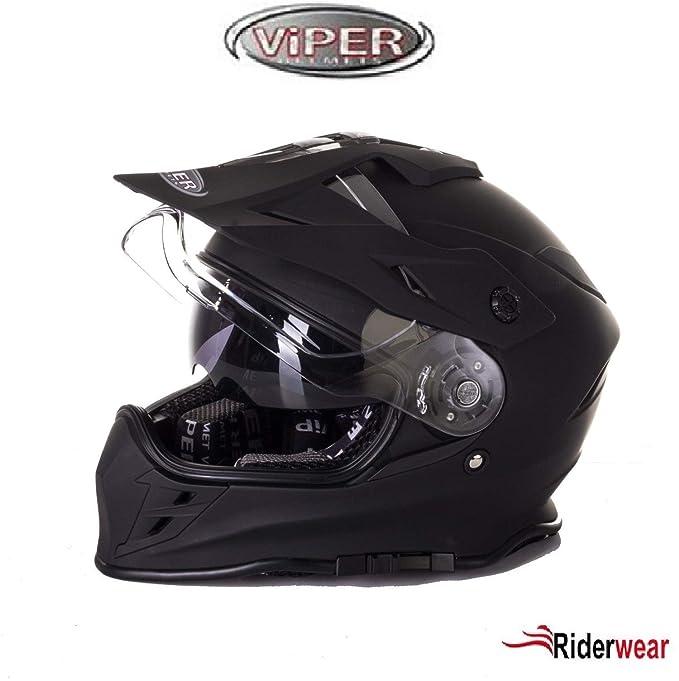 Amazon.es: Casco de Moto VIPER RX de v288 Cascos MX ...