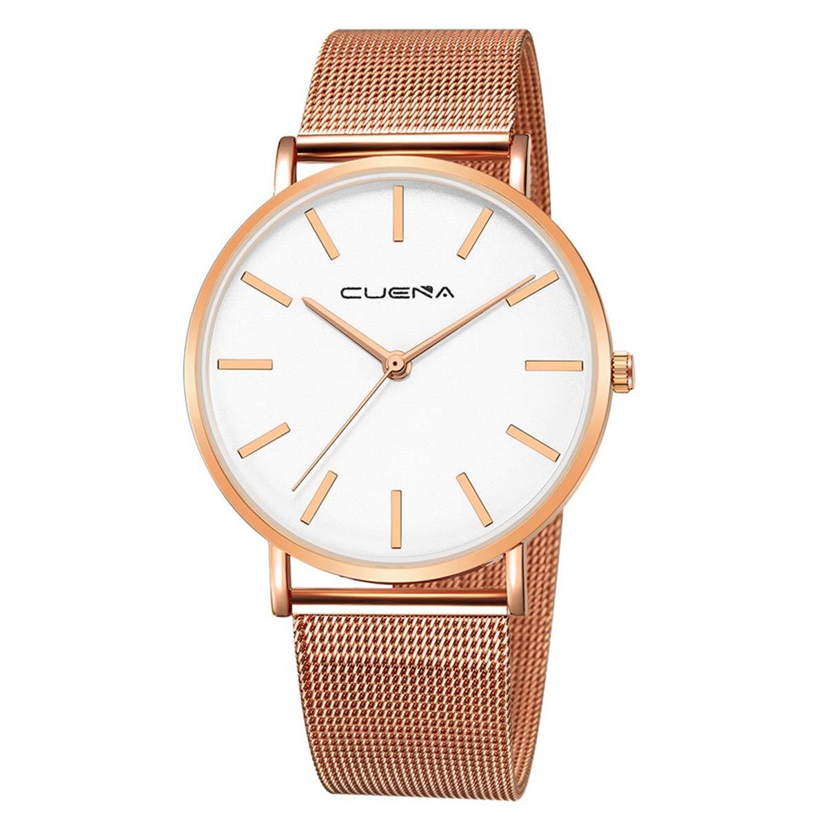 ZODRQ Men's Watch,Fashion Watches Stainless Steel Mesh Wrist Watch Casual Wristwatch Quartz Watch for Men Gift (D) by ZODRQ