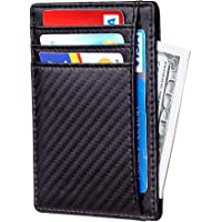 Santo Slim Wallet RFID Front Pocket Wallet Minimalist Secure Thin Credit Card Holder Slim Minimalist Front Pocket RFID…