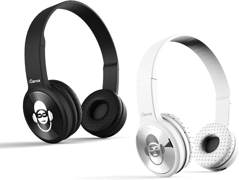iDance - Set de 2 Auriculares Bluetooth inalámbricos, Color Negro y Plateado